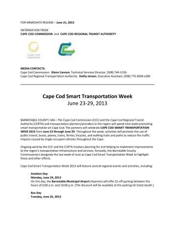 Cape Cod Smart Transportation Week, June 23-29, 2013 - 6/21/13 ...