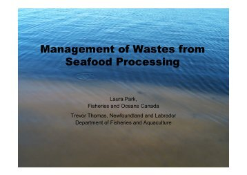 Management of Wastes from Seafood Processing - COINAtlantic