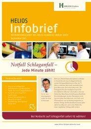 Notfall Schlaganfall - HELIOS Kliniken GmbH