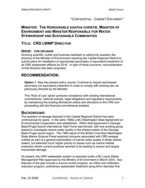 MASC 2008 Draft MC v 2 - Maritime Awards Society of Canada
