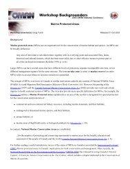 Marine Protected Areas - Maritime Awards Society of Canada