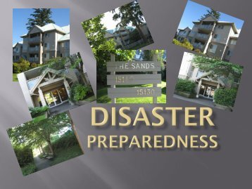 DISASTER PREPAREDNESS - Ocean Bay Management