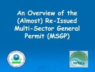 (Almost) Re-Issued Multi-Sector General Permit (MSGP)