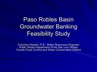 Paso Robles Basin Groundwater Banking Feasibility Study
