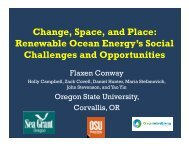 Flaxen Conway, Change, Space and Place