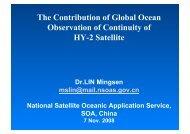 The Contribution of Global Ocean Observation of ... - COASTALT