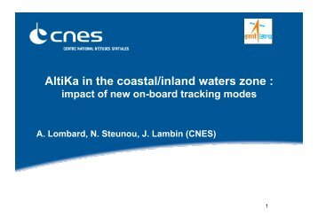 Applications of Alti-Ka in the coastal zone - COASTALT