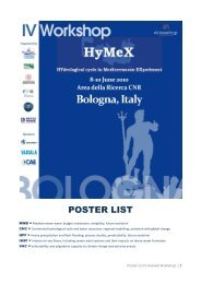 POSTER LIST - HyMeX