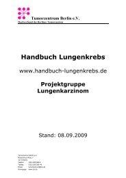Tumorzentrum Berlin eV - Handbuch Lungenkrebs