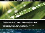 Screening analysis of Climate Scenarios - Florida Atlantic University