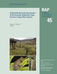 A Rapid Biodiversity Assessment of the Kaijende Highlands, Enga ...