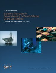 Executive Summary for Oil and Gas Platform Decommissioning Report