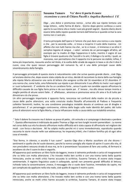 Autore Susanna Tamaro Liceo Classico Benedetto Da Norcia