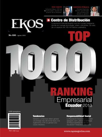 portada. ranking empresarial ecuador 2013 ... - Ekos Negocios