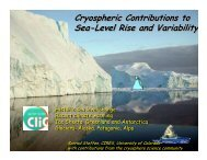 Cryospheric Contributions to Sea-Level Rise and Variability ...