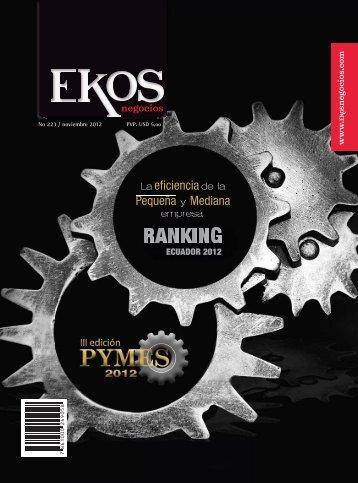 Portada/ contenido. Edicion 223. noviembre 2012 - Ekos Negocios