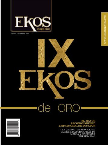 portada. Edicion 224. diciembre 2012 - Ekos Negocios