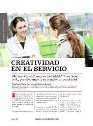 Gestión y Estrategia /Creatividad en el servicio ... - Ekos Negocios