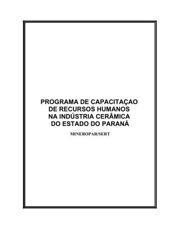 programa de capacitaçao de recursos humanos na ... - Mineropar