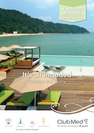 It's all included - Club Med