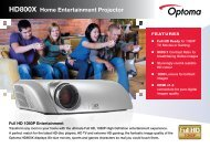 HD800X Home Entertainment  Projector Full HD ... - Projector Reviews