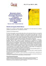 Winnicott y Kohut. Carlos Nemirovsky (2006) - Psicoterapia Relacional
