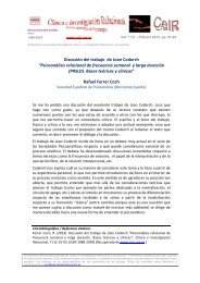 Discusión del trabajo de Joan Coderch - Psicoterapia Relacional
