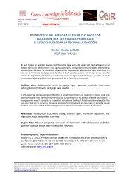 perspectivas del apego en el trabajo clínico.... - Psicoterapia ...