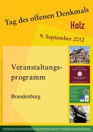 Veranstaltungs- programm - Tag des offenen Denkmals