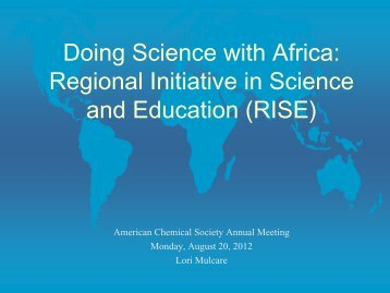 Doing Science with Africa: Regional Initiative in Science and ...