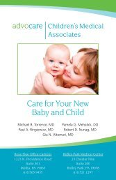 Care for Your New Baby and Child - Advocare