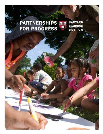 partnerships for progress - Harvard Office of Community Affairs