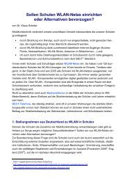 Sollen Schulen WLAN-Netze einrichten oder Alternativen - EZU