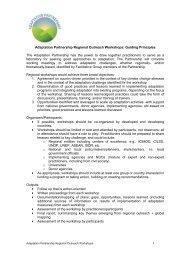 Adaptation Partnership Workshops - summary