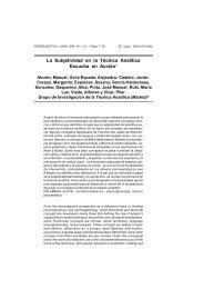La subjetividad en la técnica analítica - Psicoterapia Relacional