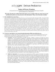 Notice of Privacy Practices - Advocare