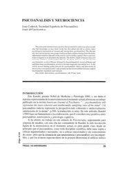 PSICOANALISIS Y NEUROCIENCIA - Psicoterapia Relacional