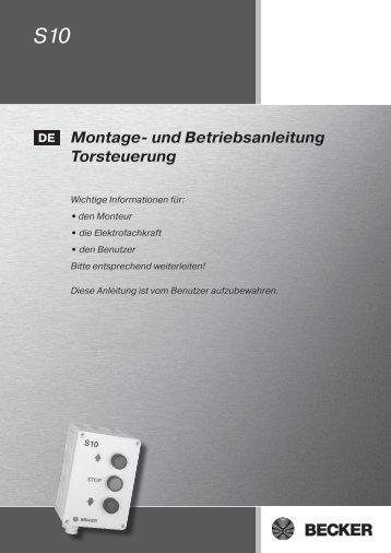 Montage- und Betriebsanleitung Torsteuerung - Becker-Antriebe