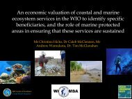 An economic valuation of coastal and marine ecosystem services in ...