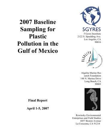 Post-Katrina Marine Pollution Survey - 5 Gyres