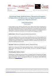 Discusión del trabajo de Shelley Doctors - Psicoterapia Relacional