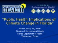 Climate and Public Health - Florida Center for Environmental Studies