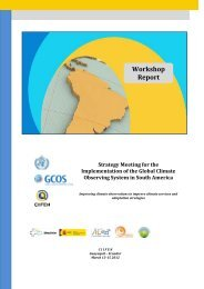 Report of the GCOS Workshop for South America 2012 - Adaptation ...