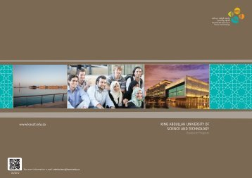 KAUST Graduate Programs Guide - King Abdullah University of ...