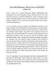 Forum Iklim Kebangsaan - Monsun Timur Laut 2011/2012 - Jabatan ...