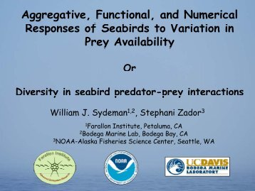 Aggregative, Functional, and Numerical Responses of Seabirds to ...