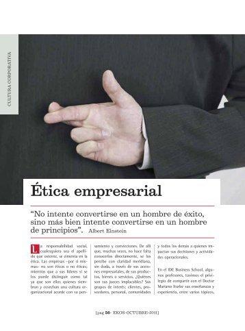 Etica empresarial - Ekos Negocios