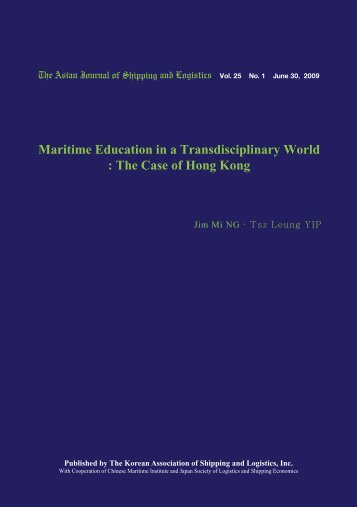 Maritime Education in a Transdisciplinary World : The ... - Ajsl.info