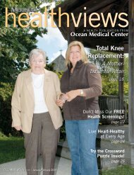 Download the January/February 2009 issue - Ocean Medical Center