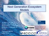 Next generation ecosystem models. Icarus Allen, PML - Oceans 2025